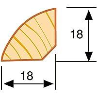 Viertelstab Bastelleiste Abschlussleiste Abdeckleiste in wei/ß lackiert aus Kiefer-Massivholz 2400 x 18 x 18 mm