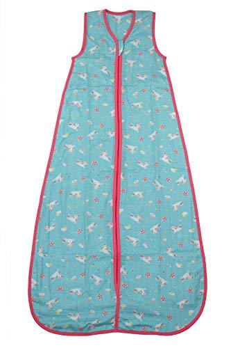 Schlummersack Kinderschlafsack Bambus-Musselin ungefüttert in 0.5 Tog - Einhorn - 3-6 Jahre / 130cm