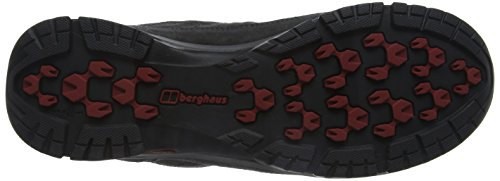Berghaus Expeditor Active Aq Tech Shoes, Chaussures de Randonnée Basses Homme Multicolore (Dark Grey/red)
