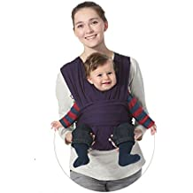 Hivel Original de Algodon Natural Fular Portabebes Portador de Bebe Baby Carrier Infant Backpack Sling Wrap - Purpura