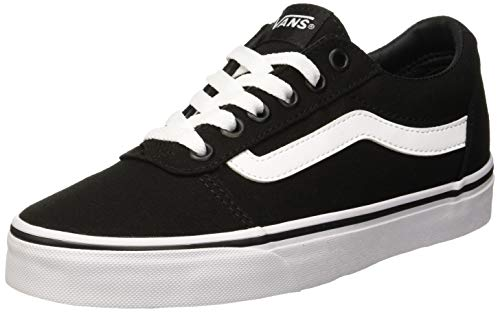 Vans Damen Ward Canvas Sneaker, Schwarz Black/White 187, 38 EU (Vans Authentic Skate Schuhe Schwarz)