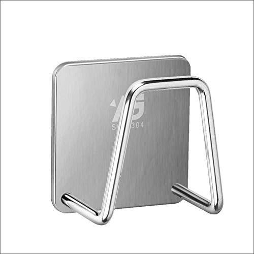 globalqi-JIA Sponge Drain Holder, 304 Edelstahl Free Punching Rack Spültuch Haken Lagerung Wandhalterung für die Küche (Küche Rack Spültücher)