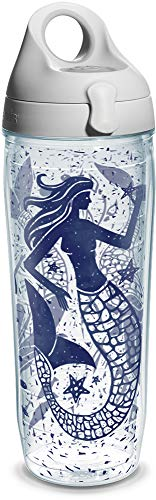 id Collage Wrap Water Bottle with Grey Water Bath Lid, 24 oz, Clear ()