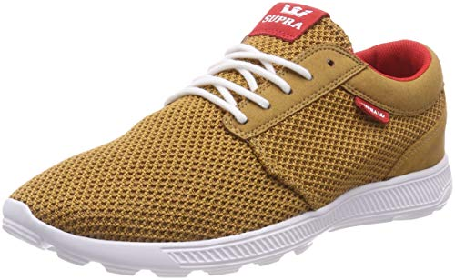 Supra Herren Hammer Run Sneaker, Braun (Tan/Risk Red-White 289), 43 EU
