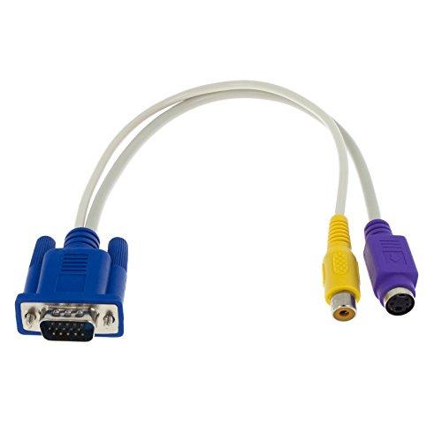Smartfox VGA SVGA zu S-Video SVideo RCA TV Converter Kabel Adapter für PC TV Beamer Projektor