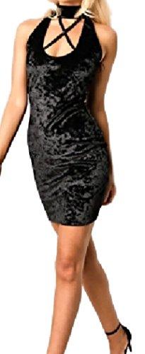 HarrowandSmith Damen Schlauch Kleid XL Schwarz