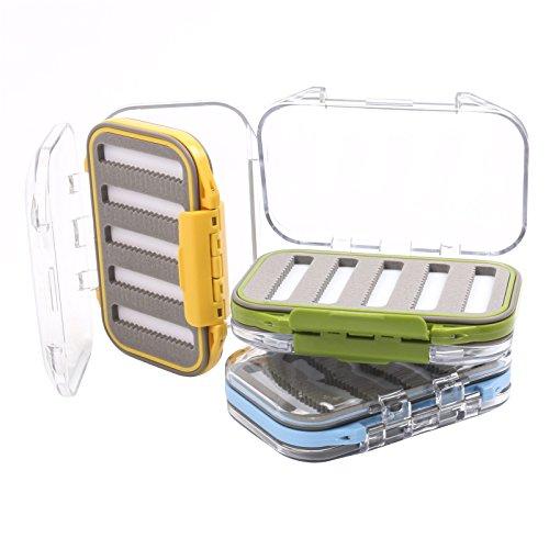 Maxcatch Wasserdichte Doppelseitiges Fliegenbox Geschlitzte Schaumstoffeinlage 3 Stücke