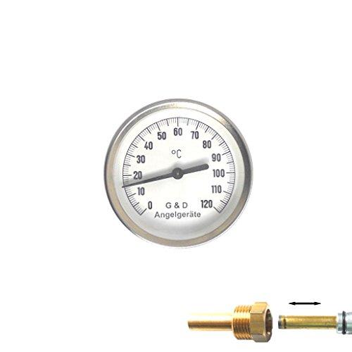 Thermometer für Räucheröfen / 0 - 120 Grad