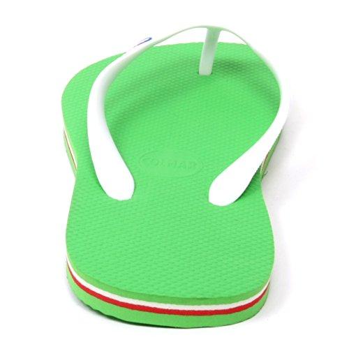 B5054 infradito donna COLMAR scarpa verde fluo gomma shoe rubber flip flop woman verde fluo