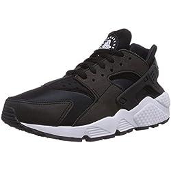 Nike Wmns Air Huarache Run, Scarpe da Ginnastica Basse Donna, Nero (Black/Black/White 006), 40.5 EU
