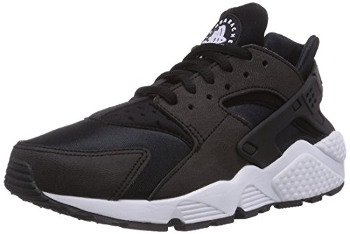 Nike wmns air huarache run, scarpe da ginnastica basse donna, nero (black/black/white 006), 36 eu