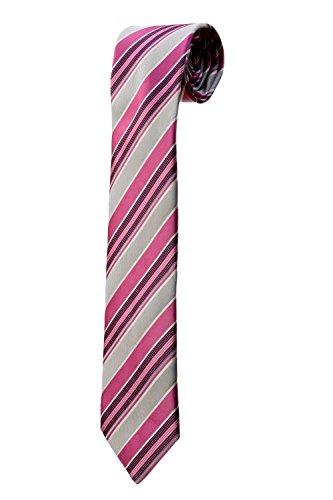 Kostüm Cravate Rose - Krawatte gestreift Rosen und grauen Design Kostüm Herren Hochzeit