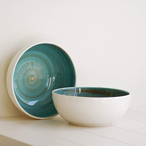 Desconocido Inconnu Bowl – Saladier – Bol – Fait au Portugal – Collection comte- 25 cm de diamètre/Hauteur : 9,5 cm