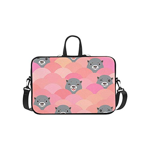 733145b7fe3e Kawaii Gray Otters Head Funny Briefcase Laptop Bag Messenger Shoulder Work  Bag Crossbody Bolso para Viajes de Negocios
