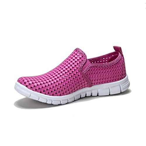 holees original et léger en mousse mémoire pour femme à enfiler Flâneur Chaussures–Différentes tailles et couleurs à choisir Rose