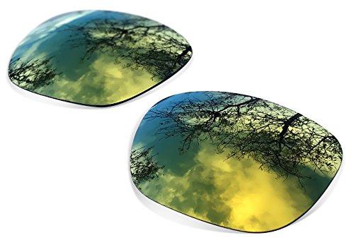 sunglasses restorer Kompatibel Ersatzgläser für Oakley Holbrook, Gold 24K Polarisierte