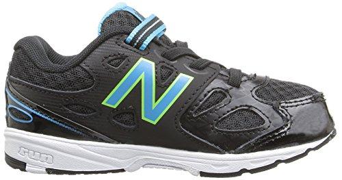 New Balance KA680 Youth Running Shoe (Little Kid/Big Kid) Black/Aqua/Hi-Lite