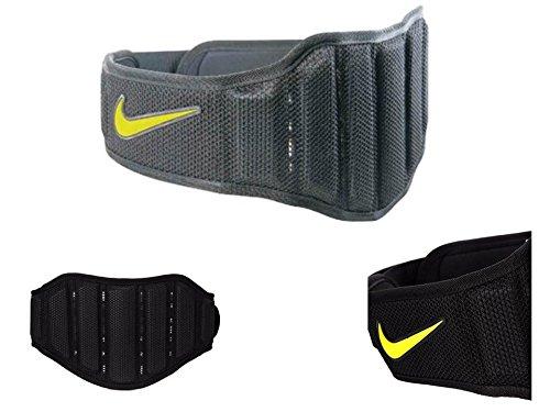 Nike Erwachsene Structured Training Belt 2.0 Trainingsgürtel, Black/Volt, L (Black Nike Belt)