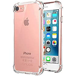 Jenuos 7G-TPU-CL - Coque iPhone 7 / 8 Transparent Souple Extrêmement Antichoc Bumper Housse TPU Silicone Etui pour Apple iPhone 7/8 - Transparent