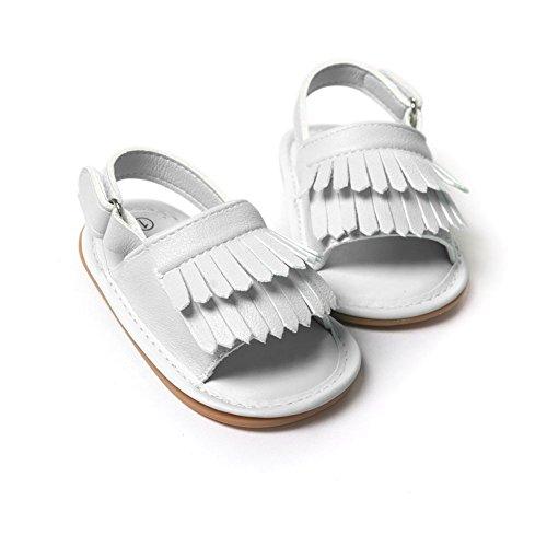 BOBORA Gland Sandales Enfant Princesse Chaussures pour Bebe Filles Garcons 0-18Mois Blanc