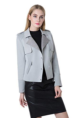 Jollychic Damen Mantel Grau - Grau