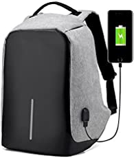 Andride Anti Theft Travel Waterproof Backpack/Compact Laptop Bag (15.6 inch)/School and Collage Bag with USB Charging Port - (Grey)