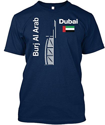 Stylisches T-Shirt Damen / Herren / Unisex XL Burj Al Arab Dubai T-shirt Souvenir Marineblau