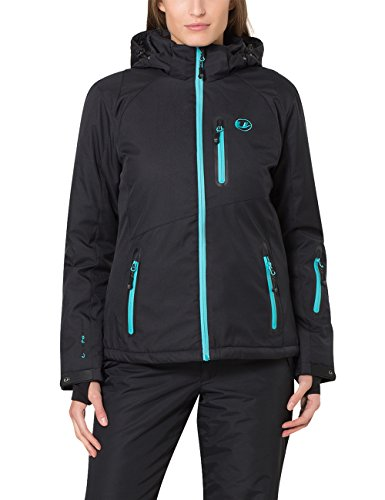 Ultrasport Damen-Funktions-Alpin-Outdoorjacke Softshell Serfaus mit Ultraflow 10.000 black/bluebird, L