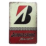 Froy Bridgestone Motorsport Wand Blechschild Retro Eisen Poster Malerei Plaque Blech Vintage Personalisierte Kunst Kreat