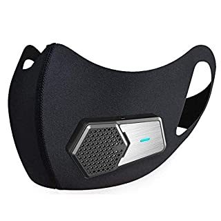 Electric HEPA Dust Mask Respirator, N95 Reuseable Face Half Mask Filter Protection for Cleaning/Air Pollution/PM2.5/Pollen Allergy/Bacteria/Paint/Travel/Cycling/Motorcycle Outdoor Sports