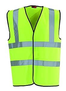 Blackrock Men's High Visibility Waistcoat - Yellow, Large