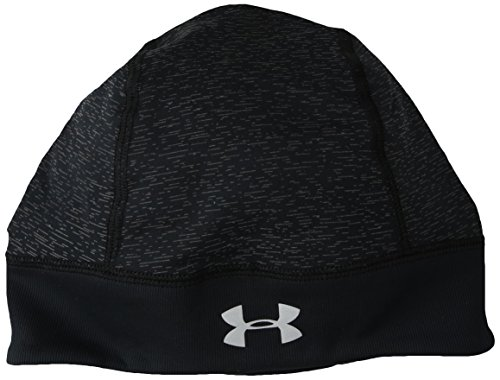 Under Armour Damen UA Storm Run Beanie Mütze, Black/Silver (001), OSFA