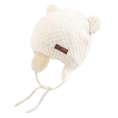 heekpek Baby Hats Newborn Bay Winter Hat with Cute Bear Ears Warm Baby Beanie Hat Earflap Hat for Infant Toddler Baby Caps Girls and Boys for Autumn Winter