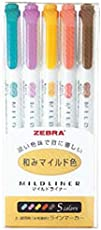 Zebra RC5 Highlighter Mildliner, 5 Color Set (WKT7-5C-RC)
