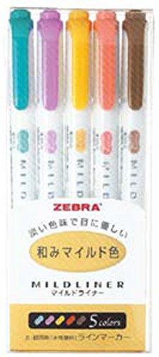 Zebra WKT7-5C-RC set di pennarelli in 5 colori