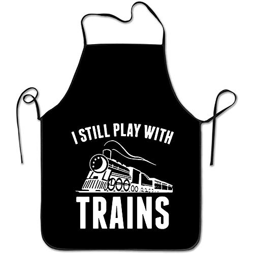 aw Colorful Aprons for Women/Men Black Grill Funny Cloth Funny Chef Apron ()
