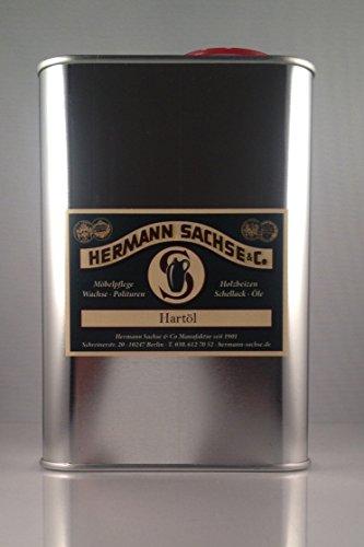 Holzöl Hartöl Holz-Pflegeöl innen [geeignet für Möbel, Treppe, Parkett-Öl und Holz-Boden], 1Liter, Natur/Farblos