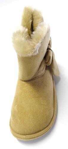 Chaussons montants - faux suède/doublure fourrure - femme Beige