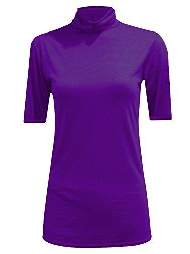 Fashionchic786 - Polo - Uni - Femme Violet