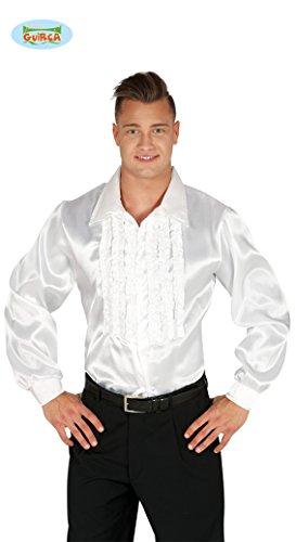 Camicia bianca con rouches disco anni 70