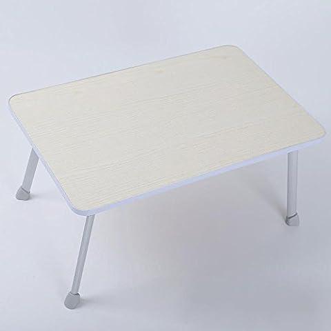 BBSLT-Colore della frutta di moda portatile scrivania, letto con tavolo piccolo pieghevole in lega di alluminio pesante, quattro colori opzionali , Maple color