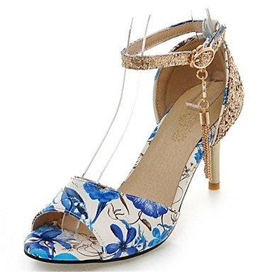 LvYuan Da donna-Sandali-Ufficio e lavoro Formale Serata e festa-Club Shoes-A stiletto-Lustrini Materiali personalizzati Finta pelle-Nero Blu Black