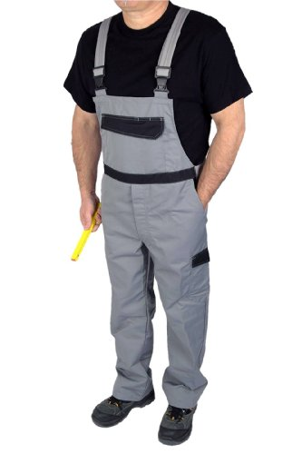 IWEA Stabile Heimwerker Arbeits-Latzhose Arbeitshose Arbeitskleidung Grau Gr. 25-102 - IW026