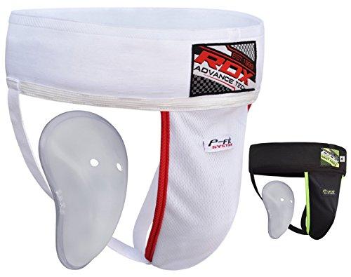 RDX Herren GGX-H1W-M MMA Tiefschutz Boxen Kampfsport Suspensorium weiß, M