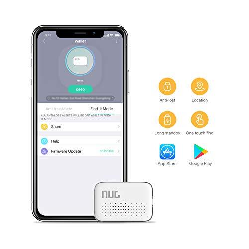Preisvergleich Produktbild Famisafe Mini-Schlüsselfinder,  Phone Finder Wallet Finder Anti-Lost Bluetooth-Ortungsgerät mit App-Steuerung für iOS und Android (Weiß)