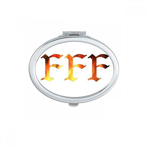 DIYthinker FFF Fury of Einzel Oval Compact Make-up Taschenspiegel Tragbare Nette kleine Hand Spiegel Geschenk Mehrfarbig (Fury Net)