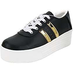 Ethics Perfect Black Gold Sneaker Shoes for Women (8)