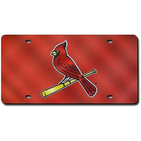 ST Louis Cardinals taglio laser rosso Targa