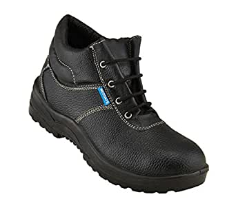 Neosafe A5014_8 Bull PU Leather Safety Shoes, Size 8, Black