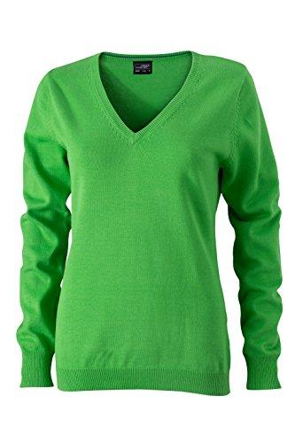 James & Nicholson Damen V-Neck Pullover Grün (Green), 40 (Herstellergröße: XL) Grüne Damen Pullover
